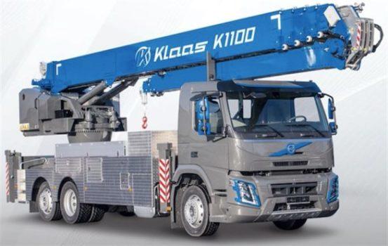 Автокран K1100 RSX‒ новый гигант среди алюминиевых кранов Klaas